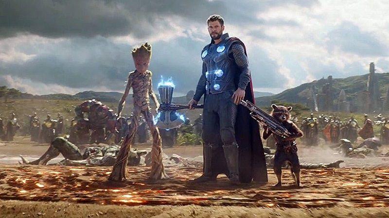 Мстители: Война бесконечности 2 место в списке